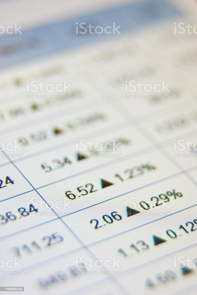 Stock market rates are moving up royalty-free stock photo