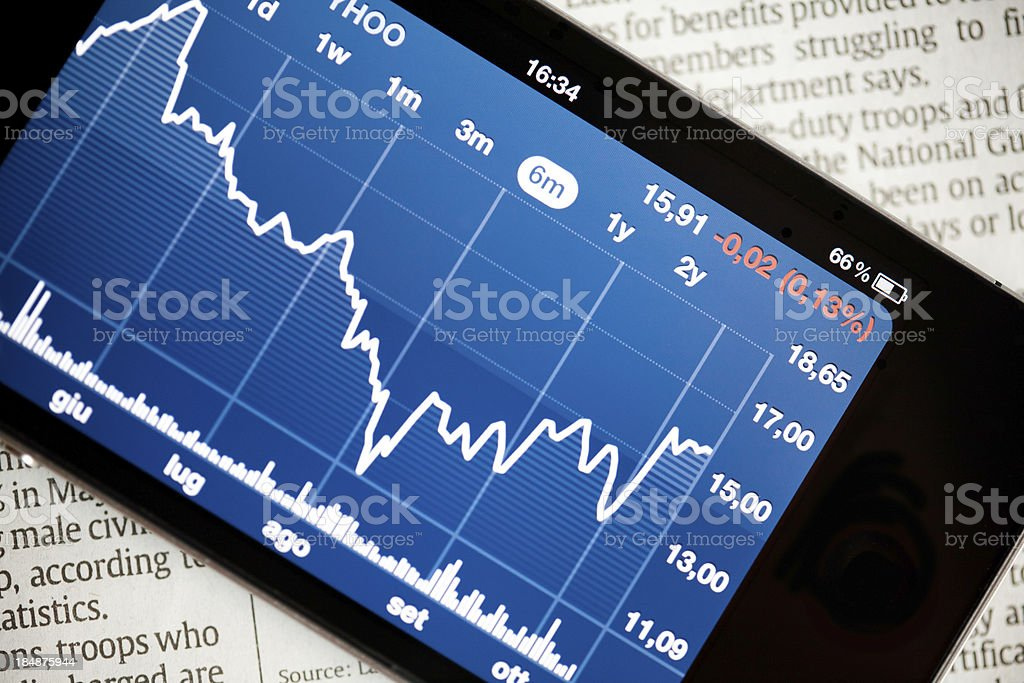 Stock Market Red royalty-free stock photo