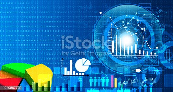 1040865674istockphoto Stock market report, Business graph 1040867792