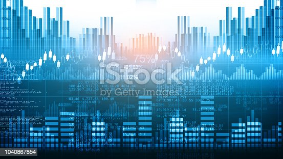 1040865674istockphoto Stock market report, Business graph 1040867854