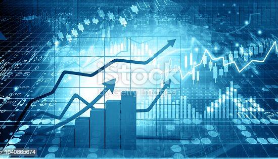 istock Stock market report 1040865674