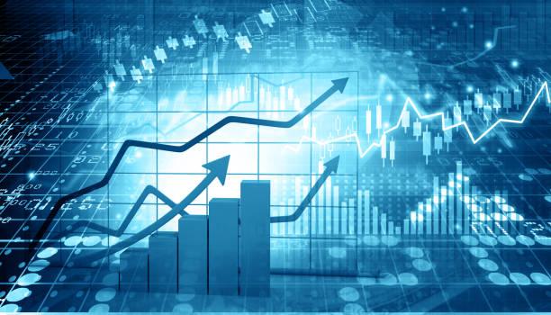 株式市場レポート - 柱頭 ストックフォトと画像