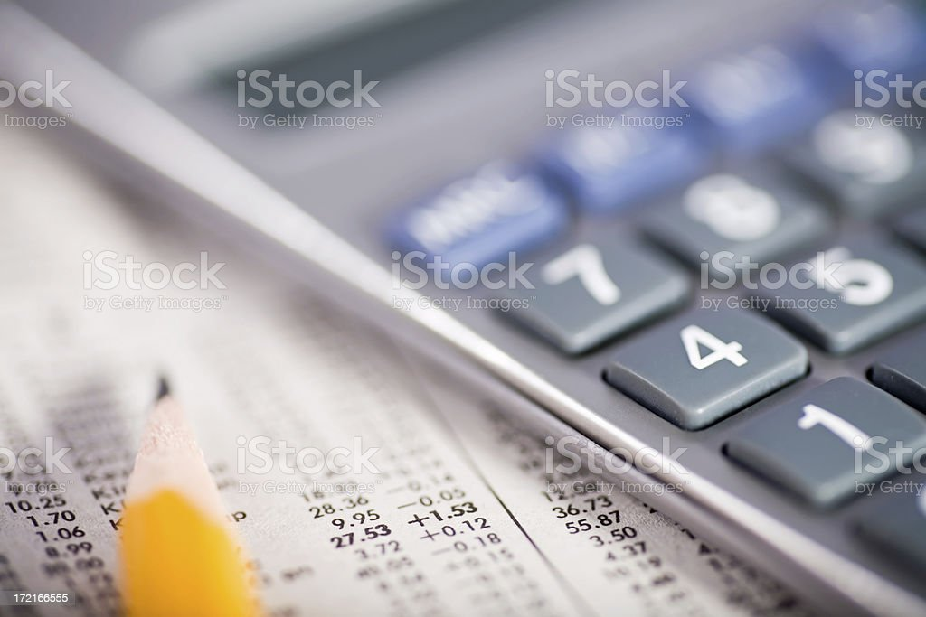 Stock Market Report royalty-free stock photo