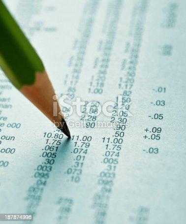 istock Stock market report 187874998