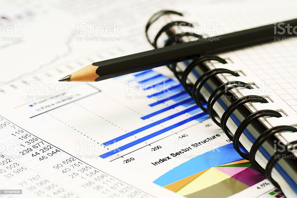 Stock market reports royalty-free stock photo
