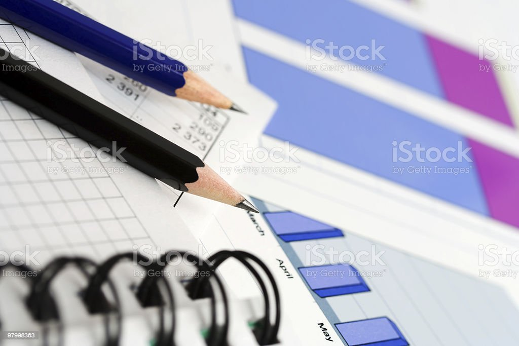 Stock market reports royalty-free stock photo