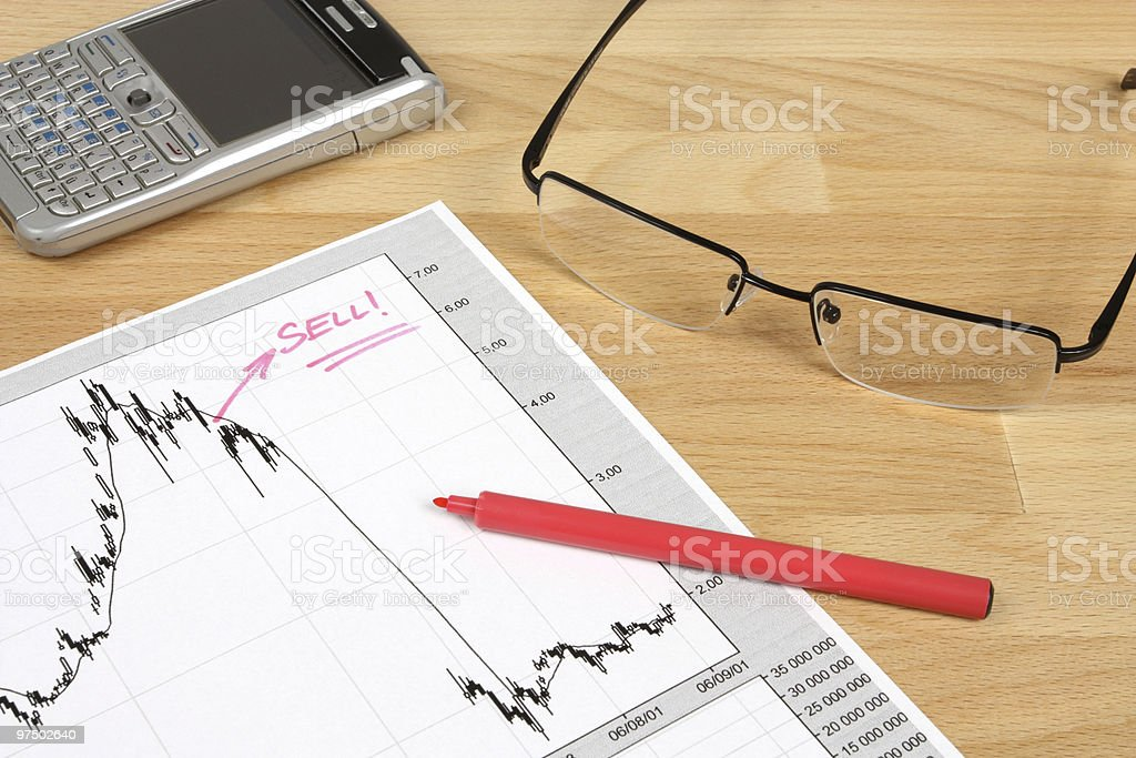 Stock market research royalty-free stock photo