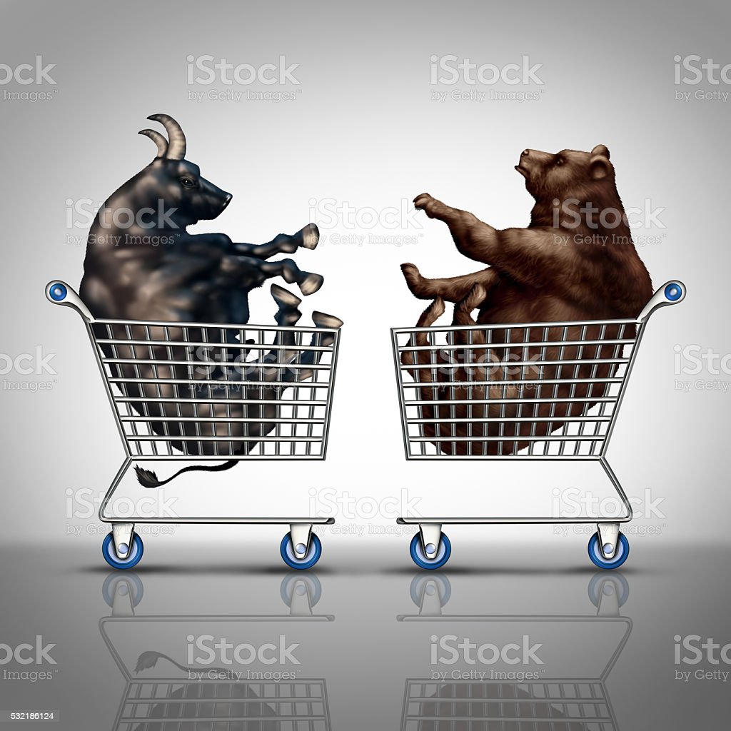 Stock Market Shopping stock photo
