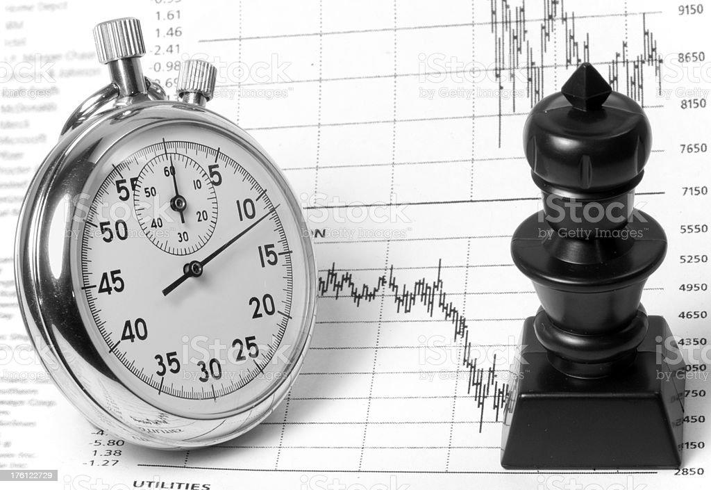 Stock Market Timing Strategy royalty-free stock photo