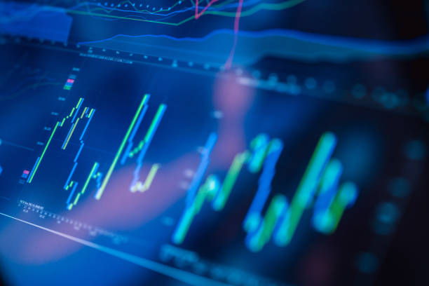 Börsenhandelschart – Foto