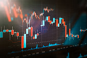 istock Stock market trading graph, investment chart 1159485913