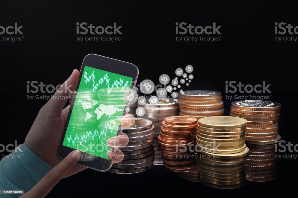 ações de negociação em bitcoin
