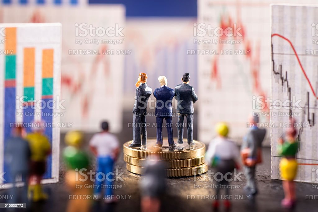 Stock market trends stock photo