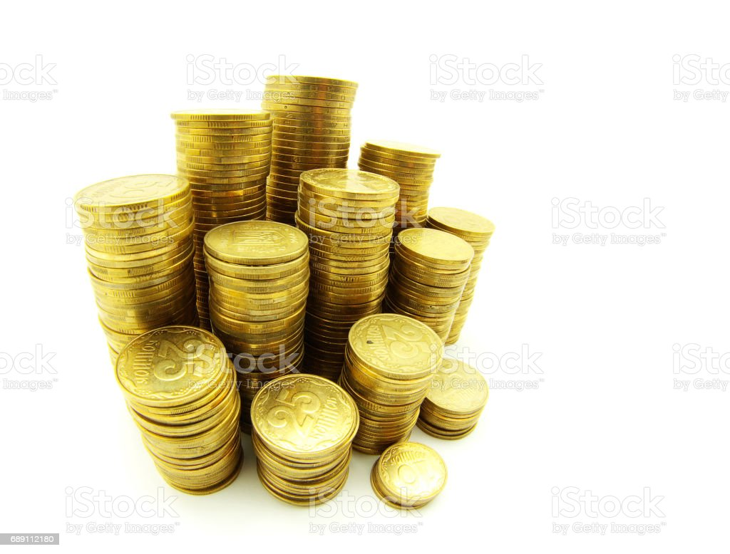 stock of coins stock photo