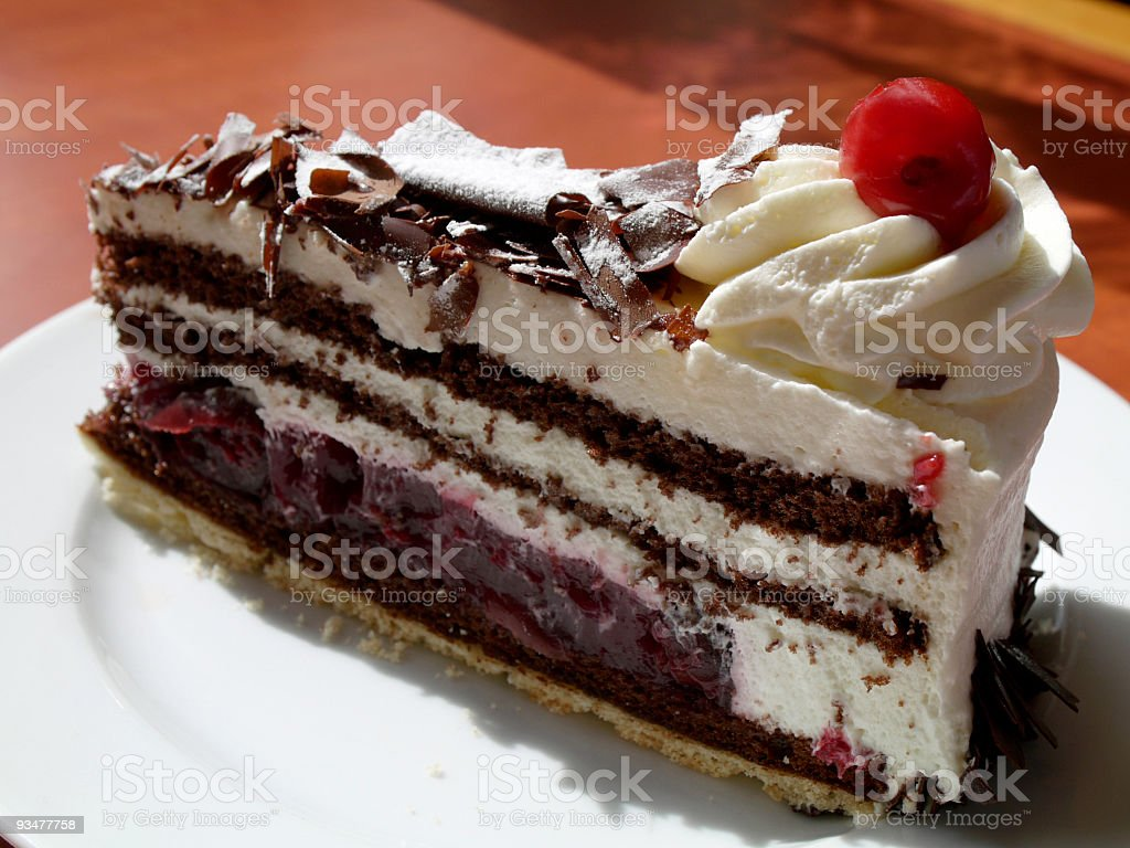 Stock Photo Black Forest Cake stock photo