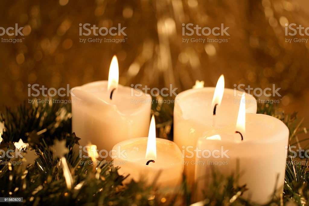 Stock Photo Christmas Candles royalty-free stock photo