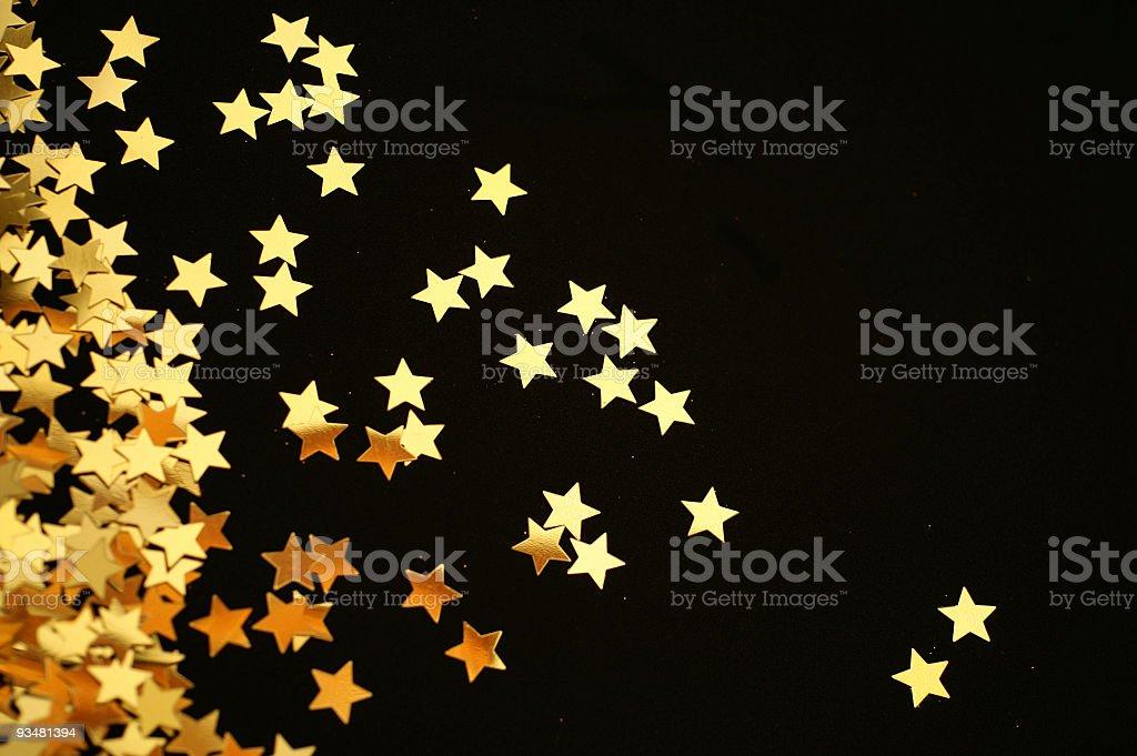 Stock Photo Christmas Golden Stars stock photo