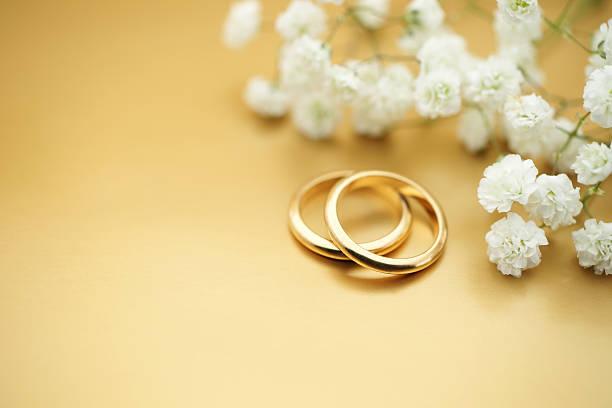 Stock Photo Gold Wedding Rings stock photo