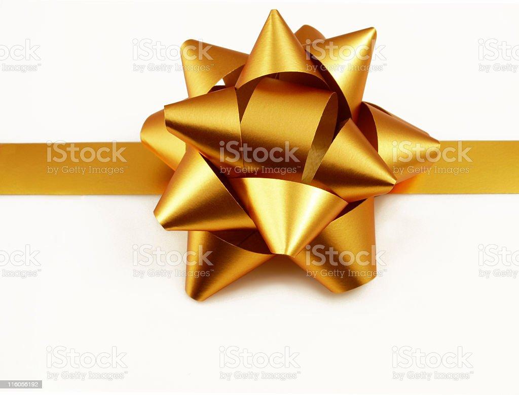 Stock Photo Golden Gift royalty-free stock photo