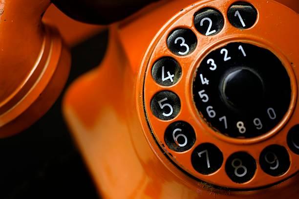 Stock Photo Grungy old telephone stock photo