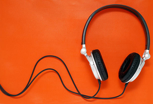 Stock Photo Music Headphones  mp3 player stock pictures, royalty-free photos & images