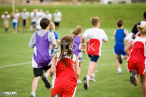 istock Stock Photo of a Cross Country Race 92041135