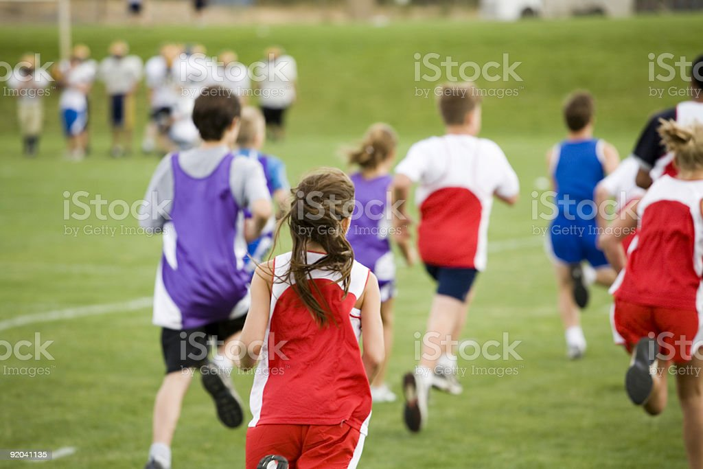 Stock Photo of a Cross Country Race stock photo