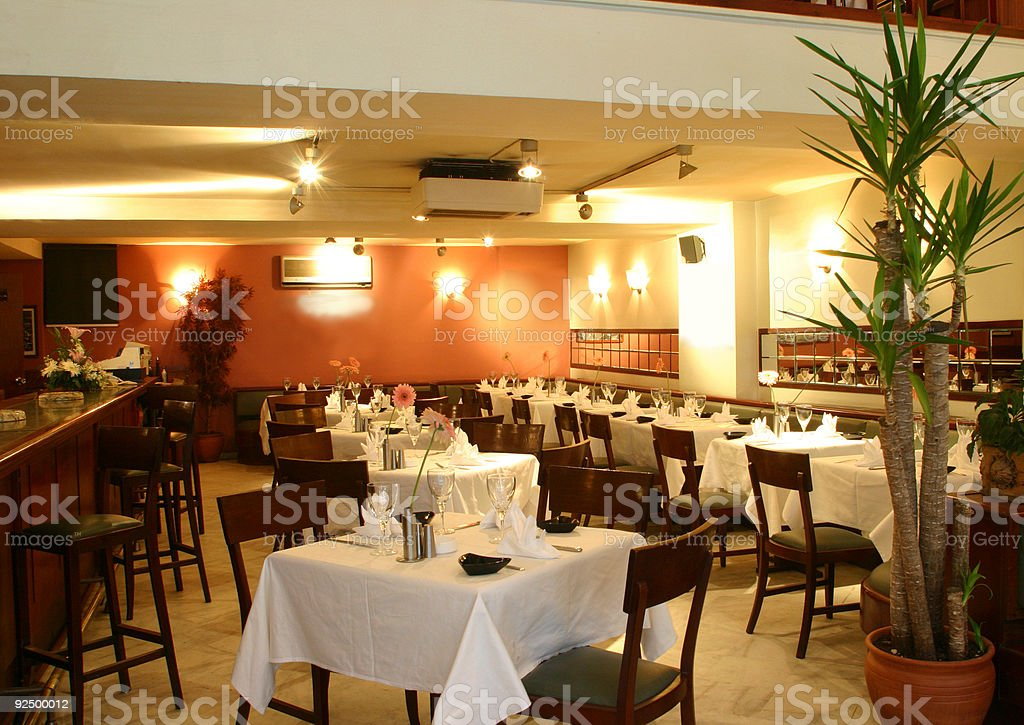 Stock Photo of an Empty Restaurant royalty-free stock photo