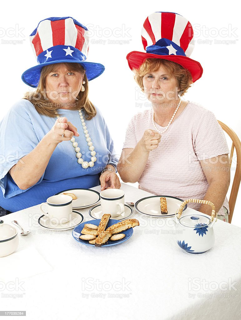 Stock Photo of Angry Tea Party Voters royalty-free stock photo