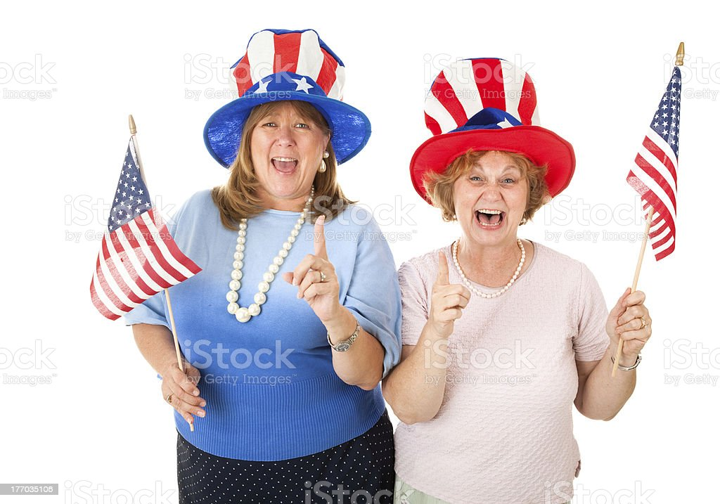 Stock Photo of Enthusiastic American Voters stock photo