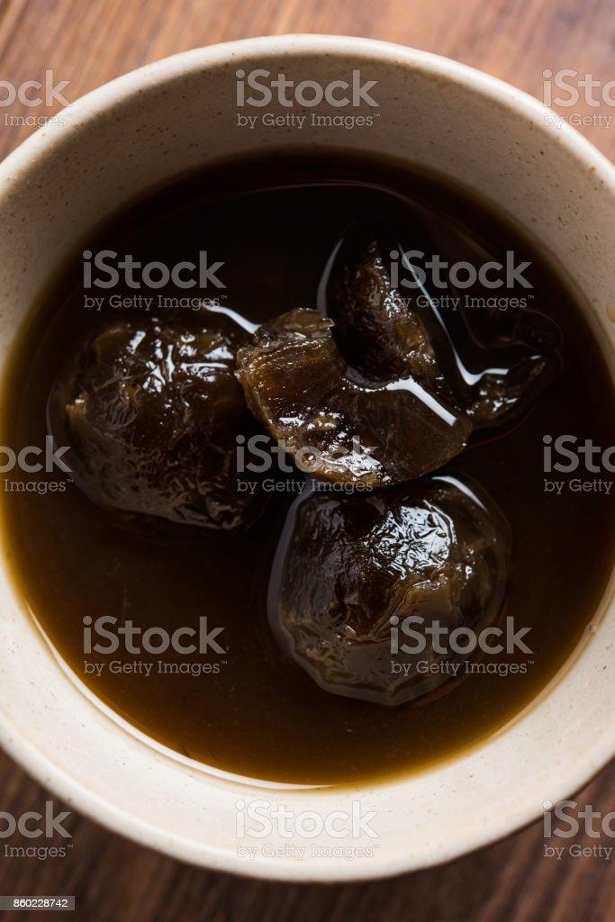 Stock photo of juicy Amla/Avla/Aavla called murabba, muramba or jelly, selective focus stock photo