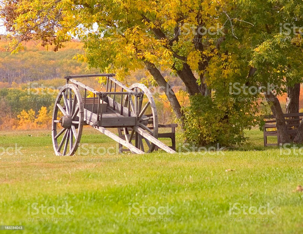Stock Photo of Red River Cart at Batoche royalty-free stock photo