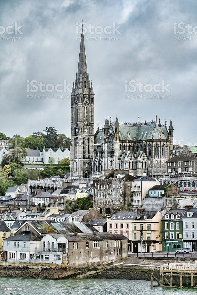 Stock Photo of St. Colman's Cathedral in Cobh, Ireland stock photo