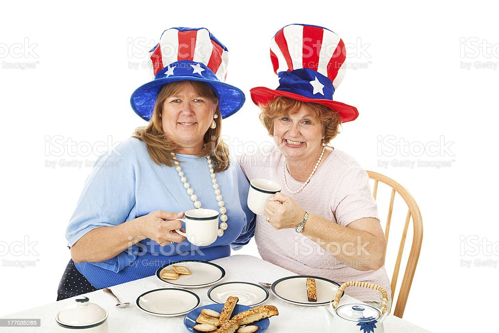 Stock Photo of Tea Party Conservatives royalty-free stock photo