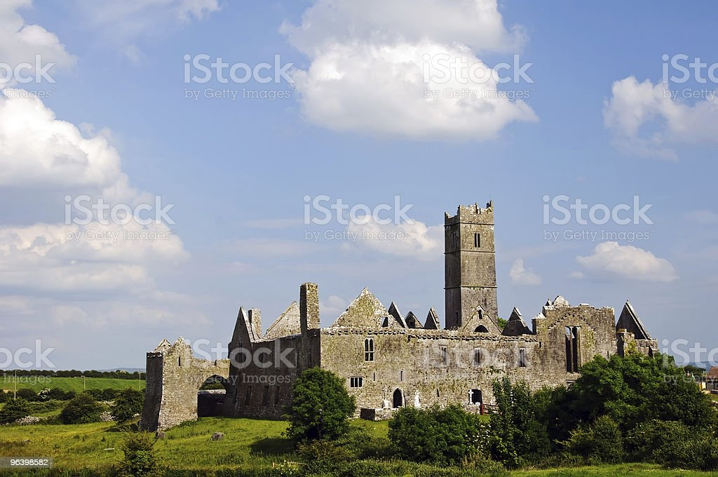 stock photo quin abbey, famous in county clare, ireland - Royalty-free Abbey - Monastery Stock Photo
