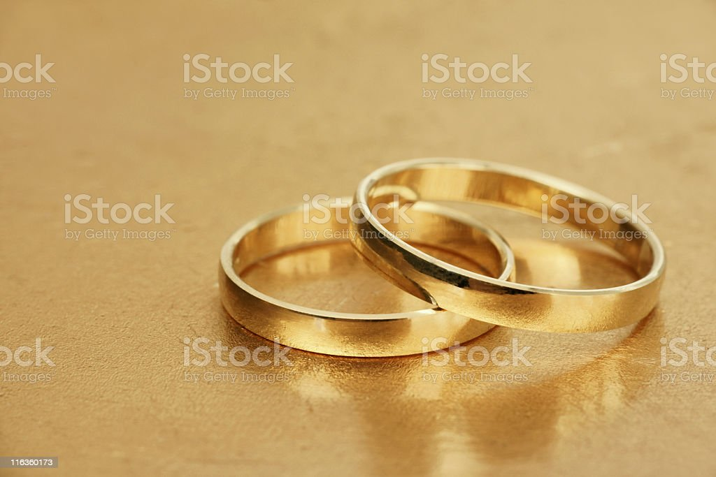 Stock Photo Wedding Rings royalty-free stock photo