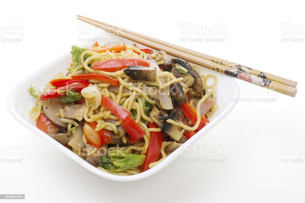 Stock Photograph of Stir Fried Noodles and Vegetables royalty-free stock photo
