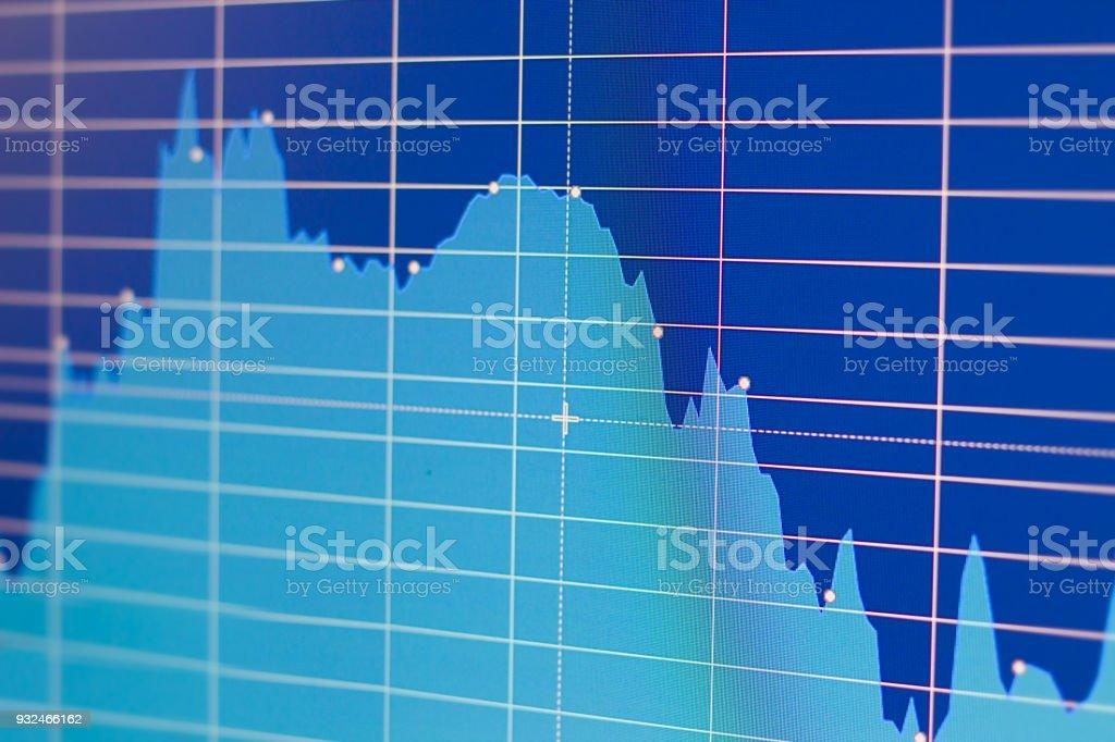Stock quotes chart stock photo