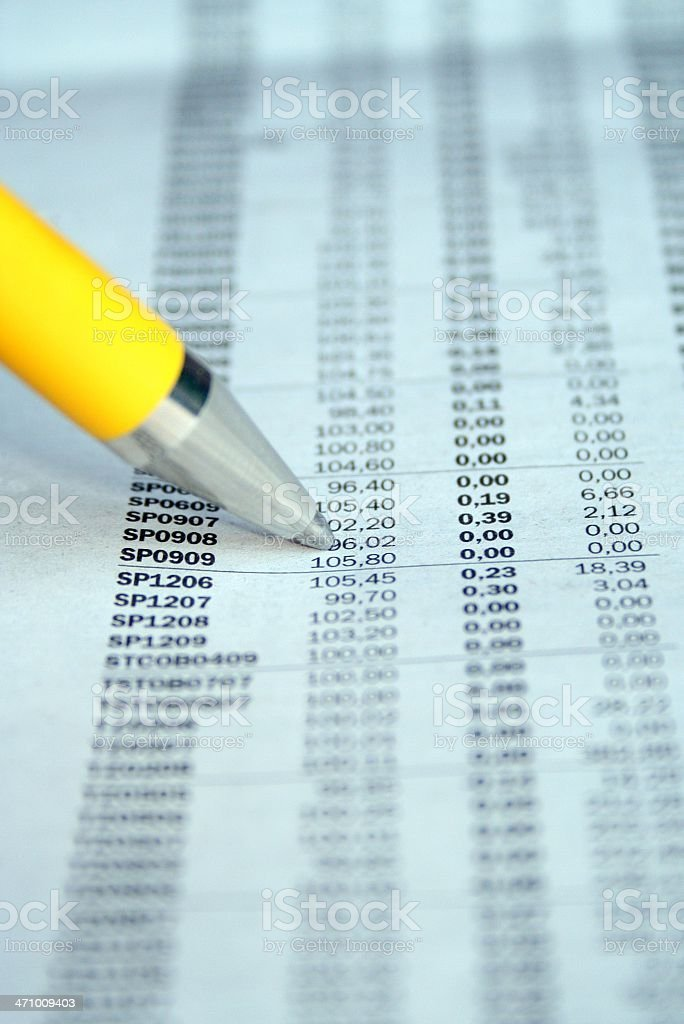 stock tabels royalty-free stock photo