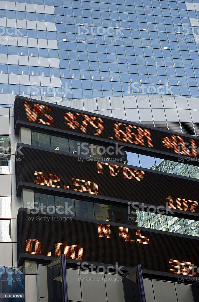 Stock Ticker 1 royalty-free stock photo