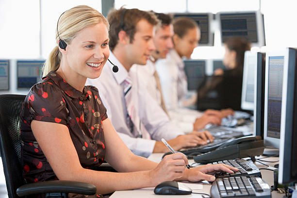 stock traders working - call center stock photos and pictures