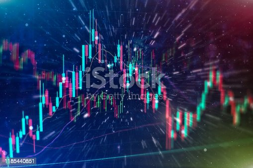 896567272istockphoto Stock trading, crypto currency background.The business plan at the meeting and analyze financial numbers to view the performance of the company. 1185440851