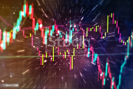 896567272istockphoto Stock trading, crypto currency background.The business plan at the meeting and analyze financial numbers to view the performance of the company. 1185441596