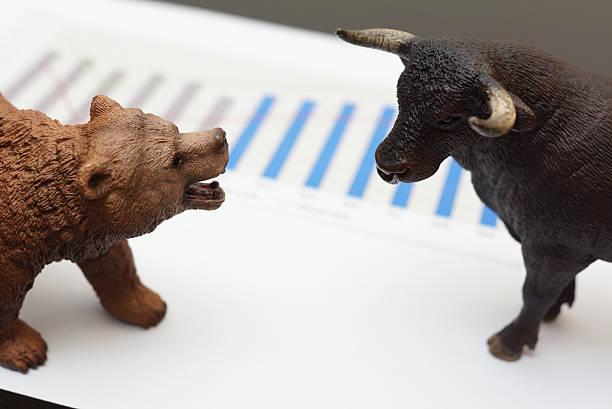 - Handel mit Stier und Bär – Foto
