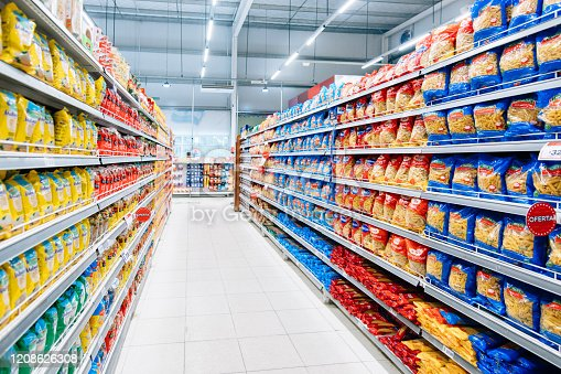 Stocked supermarket ready for business