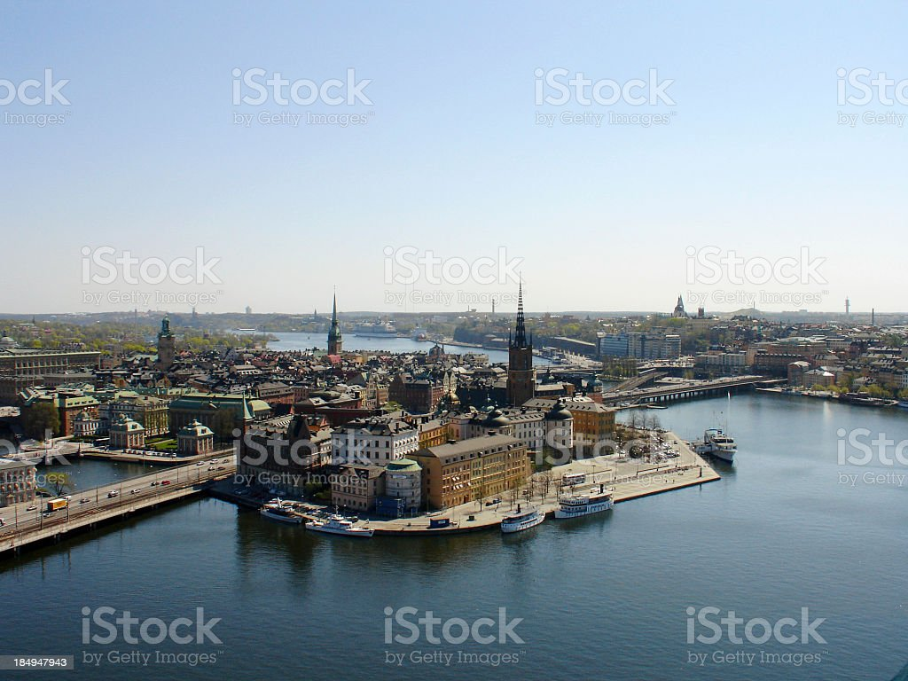 stockholm aerial stock photo