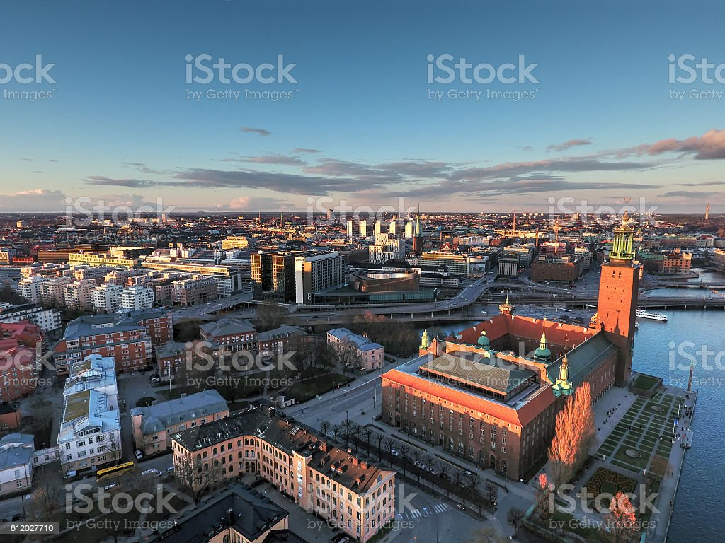 Stockholm Aerial View stock photo