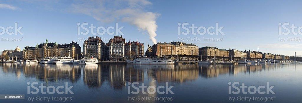Stockholm. Beautiful big panorama. royalty-free stock photo