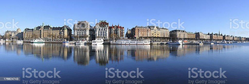 Stockholm. Big panorama royalty-free stock photo