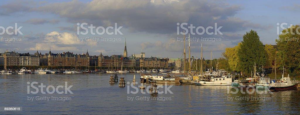 Stoccolma. Grande panorama foto stock royalty-free